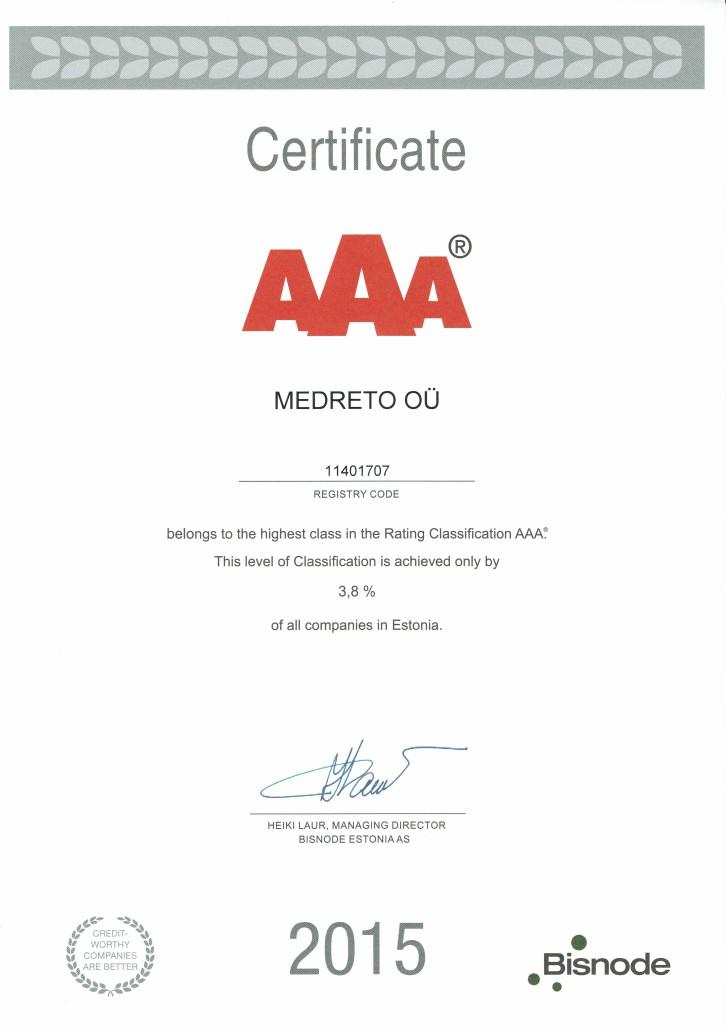 certificate AAA